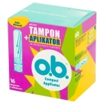 O.B. Compact Applicator Normal Tampony z aplikatorem 16 sztuk