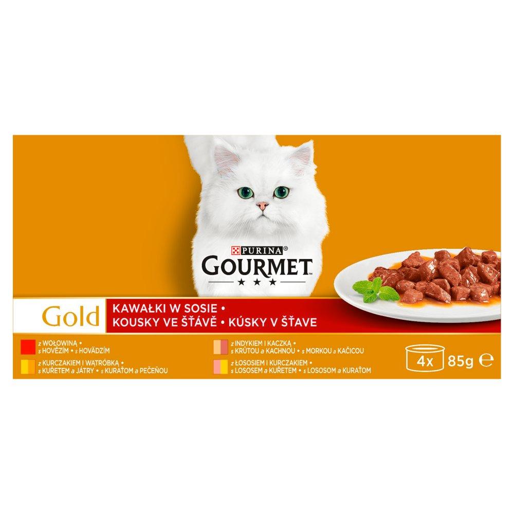 dc0bf4176d5d83 Gourmet Gold Karma dla kotów kolekcja kawałków w sosie 340 g (4 x 85 g)