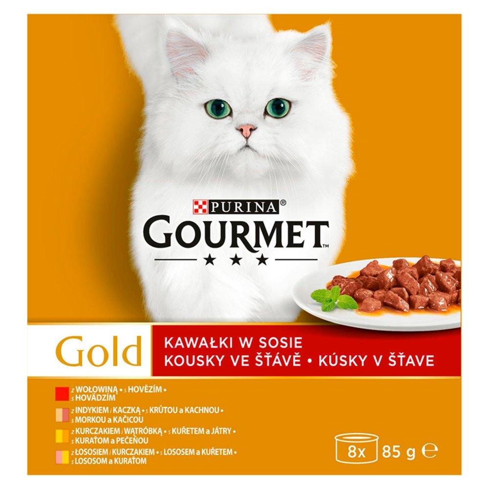 b198471d95f870 Gourmet Gold Karma dla kotów kolekcja kawałków w sosie 680 g (8 x 85 g)
