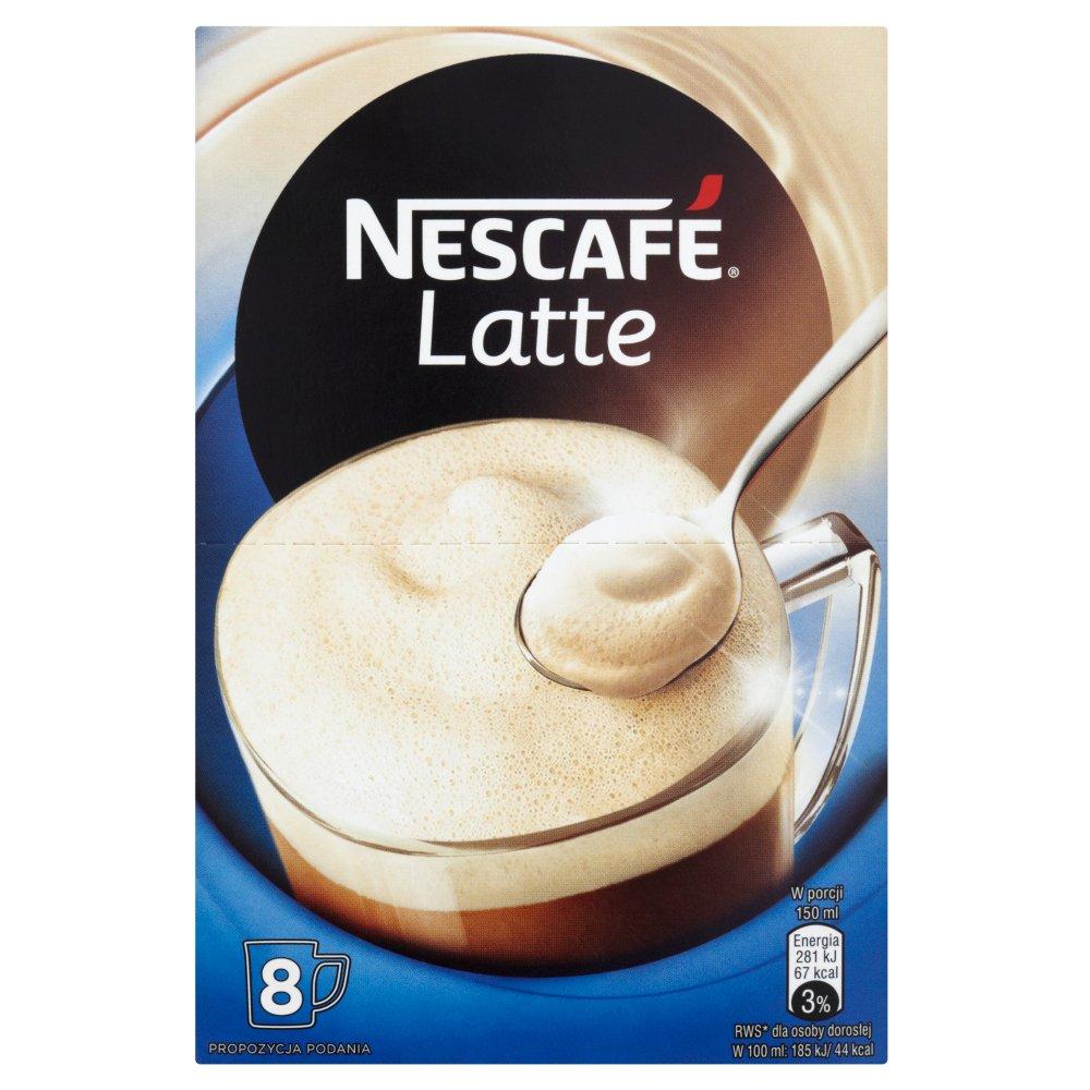 0a1573843fe42 Nescafé Latte Rozpuszczalny napój kawowy 120 g (8 sztuk)